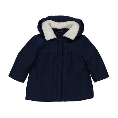Jas in wollen stof met kap, 3 mnd - 3 jaar Jas in wollen stof met kap, 3 mnd - 3 jaar La Redoute Collections