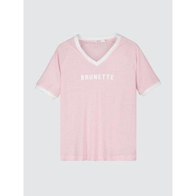 T-shirt à message ' BRUNETTE' BIZZBEE