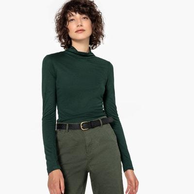 T-shirt z golfem z długimi rękawami T-shirt z golfem z długimi rękawami La Redoute Collections