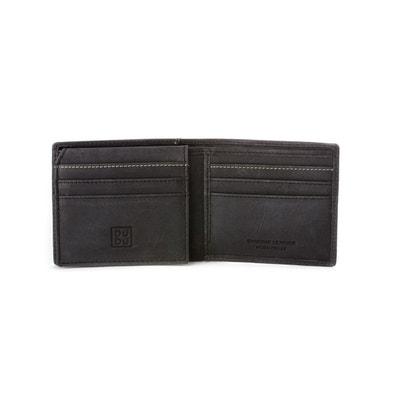 Portefeuille pour Homme Porte-cartes en Cuir Véritable Vintage avec 9 fentes pour les Cartes de crédit et Rabat intérieur a DUDU