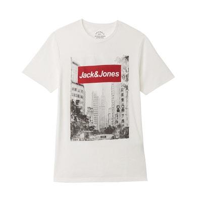 T-Shirt, Rundhalsausschnitt, Motiv vorne JACK & JONES