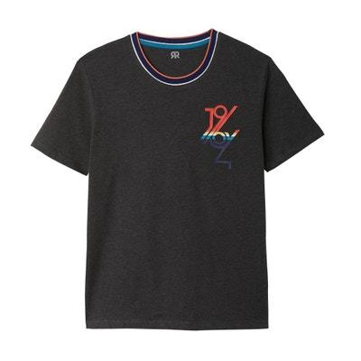 T-shirt met ronde hals en motief op de borst La Redoute Collections