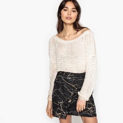 Пуловер без воротника из плотного трикотажа Пуловер без воротника из плотного трикотажа SCHOOL RAG
