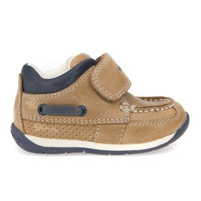 Zapatillas de piel con tira autoadherente B EACH BOY C Zapatillas de piel con tira autoadherente B EACH BOY C GEOX