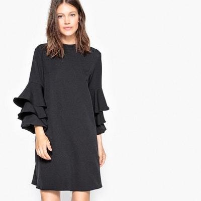Shift Dress with Ruffled Sleeves Shift Dress with Ruffled Sleeves La Redoute Collections