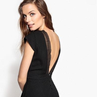 Plain Knee-Length Skater Dress SUNCOO