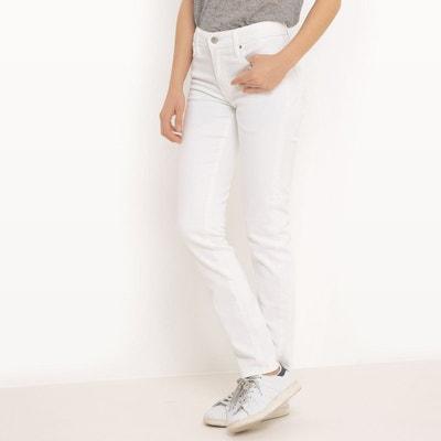 Jean slim blanc femme en solde   La Redoute 009a45df9b8c