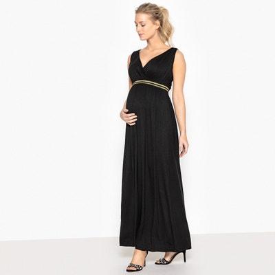 Vestido de embarazo largo con elástico brillante La Redoute Collections