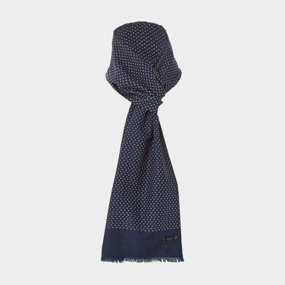 Foulard en soie à motif hachures varié - NORTON Foulard en soie à motif  hachures varié cb3b55682b0