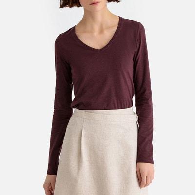 T-shirt, col V, manches longues en coton Bio T-shirt, 5e639e406b95