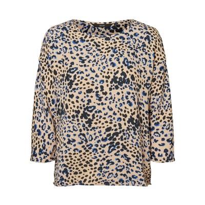 Camicetta fantasia leopardata, scollo rotondo, maniche a 3/4 Camicetta fantasia leopardata, scollo rotondo, maniche a 3/4 VERO MODA