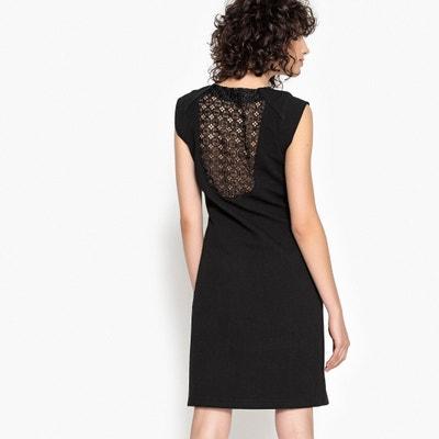 Prosta sukienka bez rękawów z koronką na plecach La Redoute Collections
