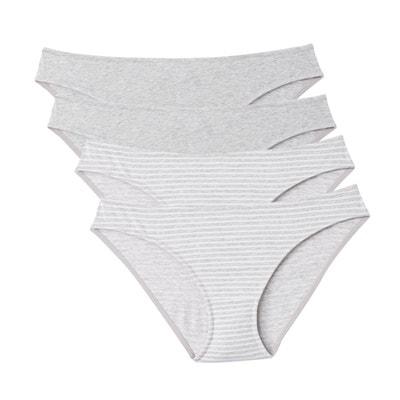 Lot de 4 slips de grossesse en coton imprimé Lot de 4 slips de grossesse en coton imprimé LA REDOUTE MATERNITÉ