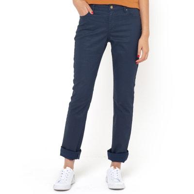Pantaloni straight 5 tasche, cotone stretch spalmato Pantaloni straight 5 tasche, cotone stretch spalmato La Redoute Collections