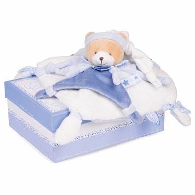 Petit Chou Teddy Bear Comfort Blanket DOUDOU ET COMPAGNIE