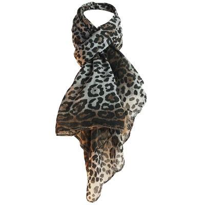 Foulard léopard soie Côme Foulard léopard soie Côme CHAPEAU-TENDANCE