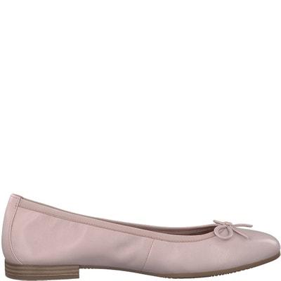 Alena Leather Ballet Pumps TAMARIS