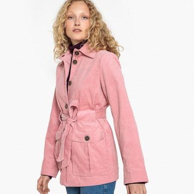 Пальто из велюра, пояс с ремешком Пальто из велюра, пояс с ремешком La Redoute Collections