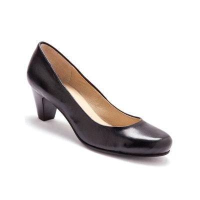 ANNE WEYBURN Escarpin cuir, surpiqres fantaisie, talon 3,5cm