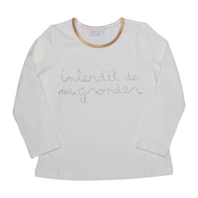 T-shirt manches longues avec strass Eclat INTERDIT DE ME GRONDER 400cd9130011