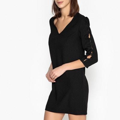 Kleid, gerade Schnittform, Schnürdetail an den Ärmeln Kleid, gerade Schnittform, Schnürdetail an den Ärmeln IKKS