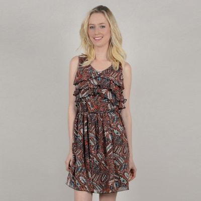 Ärmelloses Kleid mit Blumenmuster und gerader Form Ärmelloses Kleid mit Blumenmuster und gerader Form MOLLY BRACKEN