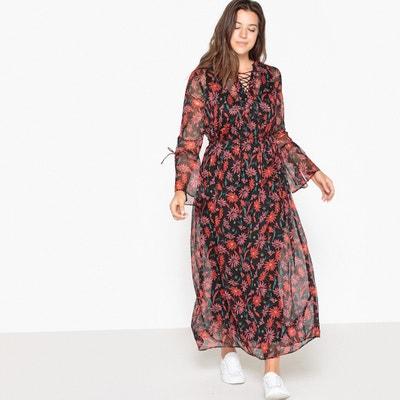 Lange jurk met bloemenprint CASTALUNA