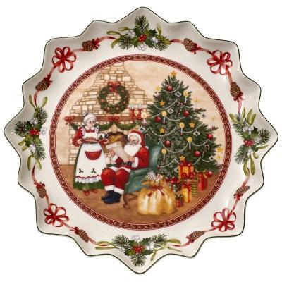 Assiettes à pâtisserie motif maison du Père Noël Toy's Fantasy Assiettes à pâtisserie motif maison du Père Noël Toy's Fantasy VILLEROY & BOCH