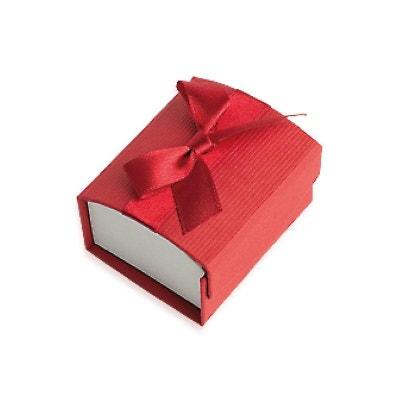 Ecrin Coffret Carton Rouge Noeud Satin Bague 58 x 50 x 35 mm Textile Ecrin Coffret Carton Rouge Noeud Satin Bague 58 x 50 x 35 mm Textile SO CHIC BIJOUX