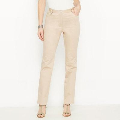 Pantalon beige femme en solde   La Redoute d726fcf91bc4