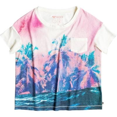 T-shirt bedrukt met palmbomen vooraan 8-16 jr ROXY