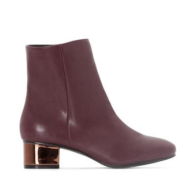 Wide-Fit Boots with Metallic Heel CASTALUNA