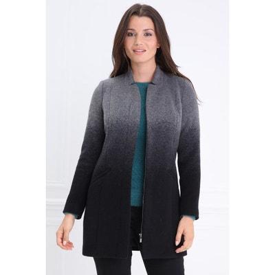 Manteau en laine zipé milieu devant Manteau en laine zipé milieu devant BREAL