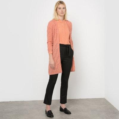 Długi sweter ze splotem warkoczowym, mieszanka wełny i moheru La Redoute Collections