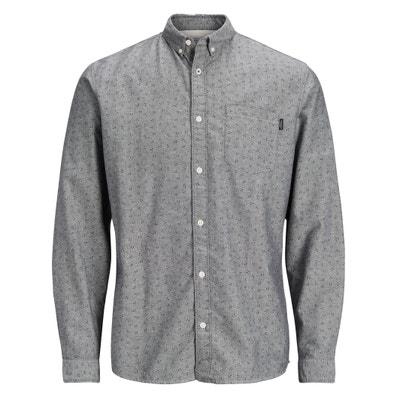 Camisa cintada, estampada, mangas compridas JACK & JONES
