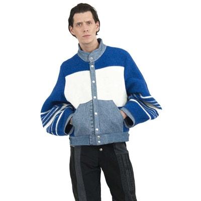 Manteau en laine et denim Manteau en laine et denim FADE OUT LABEL