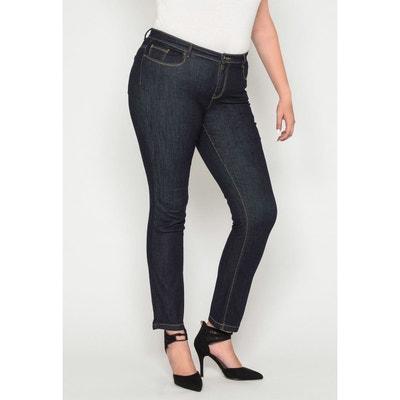 9481806ec79b5 Jeans regular taille haute dos élastiqué brut Jeans regular taille haute  dos élastiqué ...