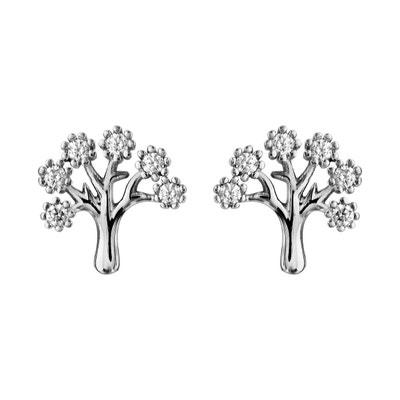 Boucles d oreilles Arbre de Vie Blanc Argent 925 Boucles d oreilles Arbre de 53967ed566e5