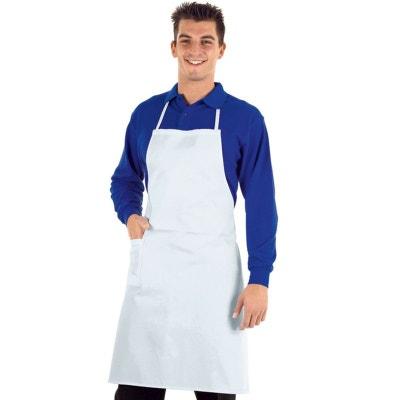 Tablier de cuisine professionnel blanc ISACCO