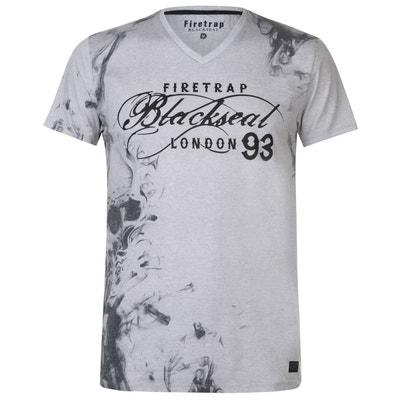c1fbb072a2095 Tee shirt grand col v homme en solde   La Redoute
