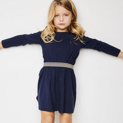 Robe unie ceinture brillante 3-12 ans La Redoute Collections