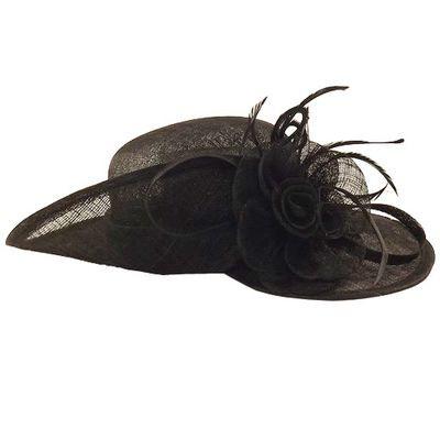 Chapeau de cérémonie noir Mona CHAPEAU-TENDANCE