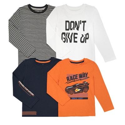Confezione da 4 t-shirt 3 - 12 anni Confezione da 4 t-shirt 3 - 12 anni La Redoute Collections