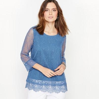 Dwumateriałowy sweter z cienkiej dzianiny ANNE WEYBURN