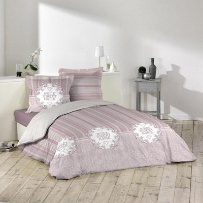 parure de couette 100 coton 240x220 aglae douceur dinterieur - Parure De Lit Rose Poudre
