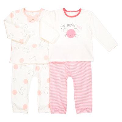 Lote de 2 pijamas estampados, 0 mês- 3 anos Lote de 2 pijamas estampados, 0 mês- 3 anos La Redoute Collections