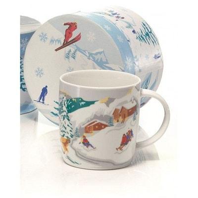 Lot de 6 Mugs vintage hiver + boîte TABLE&COOK