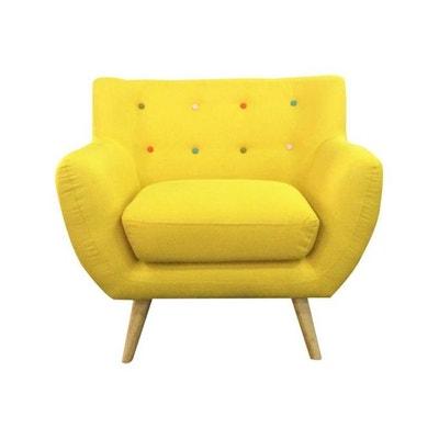 fauteuil scandinave avec boutons multicolores algania fauteuil scandinave avec boutons multicolores algania declikdeco - Fauteuil Jaune Scandinave