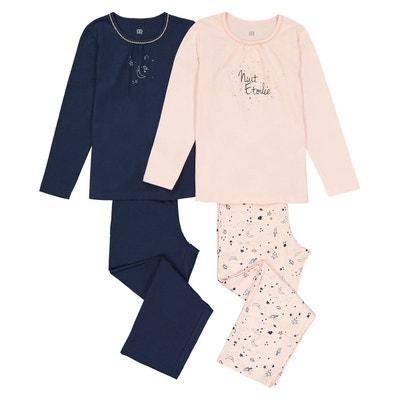 Lot de 2 pyjamas manches longues, 3-12 ans Lot de 2 pyjamas manches longues, 3-12 ans La Redoute Collections