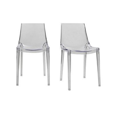 chaises design intrieur extrieur lot de 2 yzel chaises design intrieur extrieur - Chaise Plastique Transparent